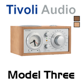 Tivoli Audio Model Three AM / FM Analog Clock Table Radio