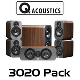 Q Acoustics 3000 Series 3020 5.1 Home Theatre Cinema Pack