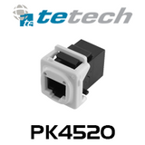 TE Dual RJ45 Cat5e Mechanism Socket