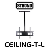 "Strong Large Ceiling Mount with 1.5"" NPT for 36""-80"" Flat Panel Displays"