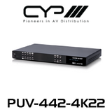 CYP 4x6 HDMI HDBaseT™ Matrix with Audio Matricing (4K, HDCP2.2, HDMI2.0, PoH, LAN, OAR, 100m)