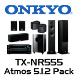 Onkyo TX-NR555 5.1.2 Atmos Pack with 4800 Floorstanding