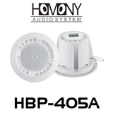 "Homony HBP-405A 4"" 5W 100V With Back Cover Ceiling Speakers (Pair)"
