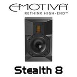 "Emotiva Stealth 8 8"" Powered AirMotiv Studio Monitors Bi-Amplified (Each)"