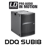 "LD Systems DDQ SUB18 18"" 2800W Active PA Subwoofer With DSP"