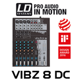 LD Systems VIBZ8DC 8-Ch Mixing Console With DFX And Compressor