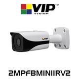 VIP Vision 2.0MP IP67 WDR Infrared Mini Bullet Fixed IP Camera