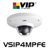 VIP Vision 4.0MP IK10 360° Fisheye Dome IP Camera