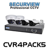 SecurView 4 Channel 1080p HDCVI Analogue Surveillance Kit
