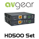 AVGear HD500 4K HDBaseT 2.0 HDMI Extender Set w/ USB KVM (100M)