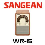 Sangean WR-15 FM/AM Wooden Cabinet Receiver