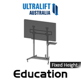 "Ultralift Education 60-90"" Flat Display Fixed Height Trolley"