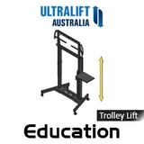 "Ultralift Education 60-90"" Flat Display Trolley Lift"