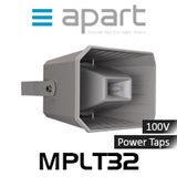 "Apart MPLT32 6.5"" 100V Weatherproof 2-Way Long Throw Horn (Each)"