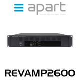 Apart REVAMP2600 2-Channel 600W Bridgeable Power Amplifier