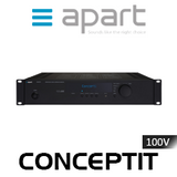 Apart Concept1T 2-Zone 60W 100V Integrated Mixing Amplifier