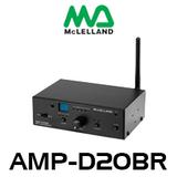 McLelland AMP-D20BR 2CH 20W Class-D Bluetooth Amplifier