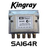 Kingray SA164R 4-Way F Type MATV Distribution Amplifier