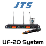 JTS UF-20R 2-CH UHF Wideband Wireless Microphone System (624-694Mhz)