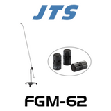 JTS FGM-62 Long Gooseneck Carbon Shaft Mic With 3 Capsules