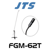 JTS FGM-62T Long Gooseneck Carbon Shaft Mic With Premium Condenser Capsule