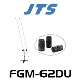 JTS FGM-62DU Dual Long Gooseneck Carbon Shaft Mic With 3 Capsules