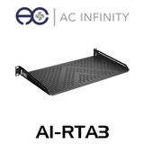 "AC Infinity 1RU 10"" Deep Vented Cantilever 19"" Rack Shelf"
