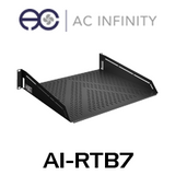 "AC Infinity 2RU 16"" Deep Vented Cantilever 19"" Rack Shelf"