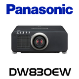 Panasonic PT-DW830EW WXGA 8500 Lumens Dual Lamp 1-Chip DLP Projector