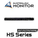 Australian Monitor 60/120/250/500W 1RU Class D Mixer Amplifier