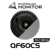 "Australian Monitor QF60CS 6.5"" 70/100V QuickFit Premium Coaxial In-Ceiling Speaker (Each)"