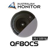 "Australian Monitor QF80CS 8"" 70/100V QuickFit Premium Coaxial In-Ceiling Speaker (Each)"
