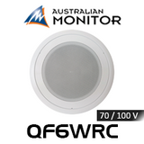 "Australian Monitor QF6WRC 6"" 70/100V Water Resistant In-Ceiling Speaker (Each)"