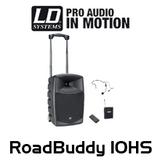 "LD Systems RoadBuddy 10HS 10"" Battery Powered Bluetooth Speaker w/ Mixer, Bodypack & Headset"