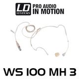 LD Systems WS 100 MH 3 Skin Tone Headset Microphone (3P mini XLR)