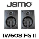 "Jamo IW608 FG II 8"" Honeycomb In-Wall Speakers (Pair)"