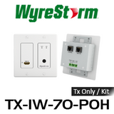 WyreStorm 4K HDMI Over HDBaseT In-Wall Extender Set with PoH (70m)