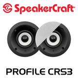 "SpeakerCraft Profile CRS3 3"" In-Celing Speakers (Pair)"