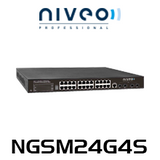 Niveo NGSM24G4S 24-Port Gigabit L2+ Managed Switch With 2 10GB SFP+ Slots