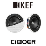 "KEF Ci130ER 5.25"" Uni-Q Ultra Thin Bezel In-Ceiling Speakers (Pair)"
