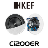 "KEF Ci200ER 8"" Uni-Q Ultra Thin Bezel In-Ceiling Speakers (Pair)"