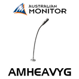 Australian Monitor AMHEAVYG Dynamic Supercardioid Commercial Gooseneck Microphone With Momentary PTT Switch