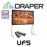 "Draper Ultimate Folding Portable Projection Screen (95-220"")"