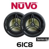 """NuVo 6IC8 Series Six 8"""" In-Ceiling Pivoting Speakers (Pair)"""