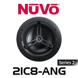 """NuVo 2IC8-ANG Series Two 8"""" Angled In-Ceiling Pivoting Speaker (Each)"""
