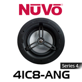 """NuVo 4IC8-ANG Series Four 8"""" Angled In-Ceiling Pivoting Speaker (Each)"""