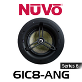 """NuVo 6IC8-ANG Series Six 8"""" Angled In-Ceiling Pivoting Speaker (Each)"""