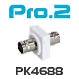 Pro2 BNC to BNC Socket Wallplate Insert