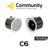 "Community C6 6.5"" 70/100V Coaxial In-Ceiling Speakers (Pair)"