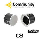 "Community C8 8"" 70/100V Coaxial In-Ceiling Speakers (Pair)"